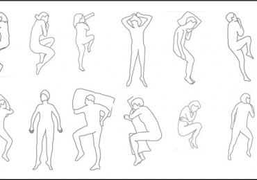 Example of the importance of investigating human behavior in designing a bed or a mattress, as it shows that people assume different postures and move during sleep. Credit: Peter Vink